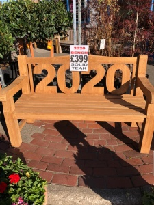 2020 Solid Teak Bench 1.5m