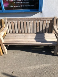 Memorial Bench Solid Teak 1.5m