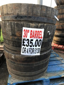 Large Oak Barrel 30 inch £35.00 OR 4 FOR £130.00
