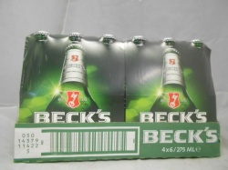 Becks 24 x 275ml bottles