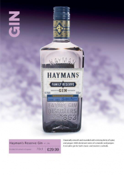 Hayman's Reserve Gin 70cl
