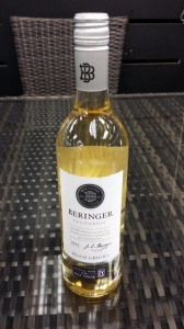 Beringer Pinot Grigio a case or £5.00 per bottle