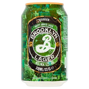 Brooklyn Lager 24 x 330ml cans (out of date)