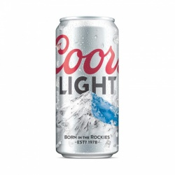 Coors Light Beer 24 x 500 ml cans (Dated Oct 19)