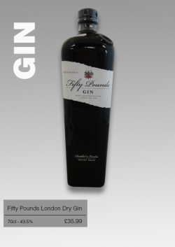 Fifty Pounds London Dry Gin 70cl