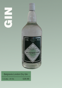 Belgravia London Dry Gin 1.5 Litre